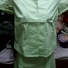 淺綠OL款短袖裙裝套裝