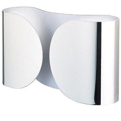 夢米蘭家居 - 義大利 FLOS 《 Foglio sort / hvid 蝴蝶結壁燈》 鍍鉻版 DMK-1242
