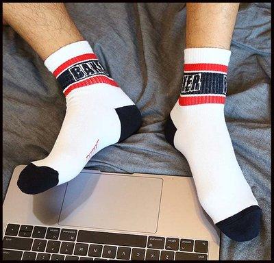 【CoolMan】男士棉短中筒襪黑白色青年學生厚韓版日系潮流百搭gay歐美秋S