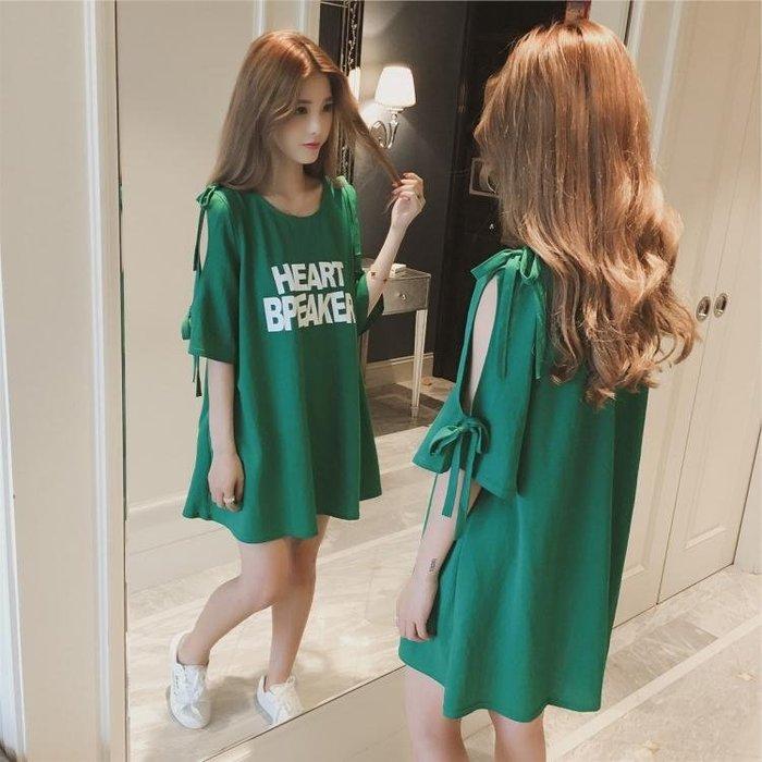 洋裝—孕婦夏裝連身裙新款時尚韓版T恤中長款夏季短袖上衣孕婦夏裝