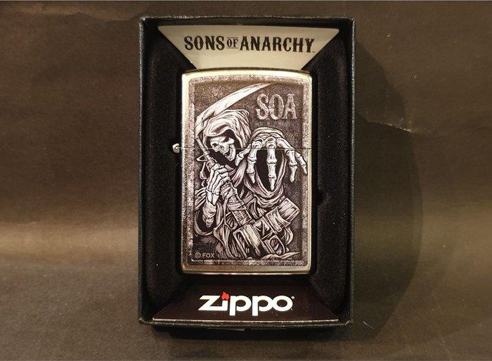 ONE*$1~美系*ZIPPO*Sons of Anarchy『混亂之子 』霧銀鍍鉻*彩印*編號:49004