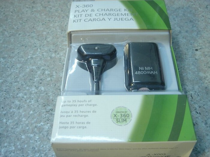 XBOX360充電電池(高容量4800mAh)+同步充電線/套件 無線手把 全新未拆 直購價300元 桃園《蝦米小鋪》