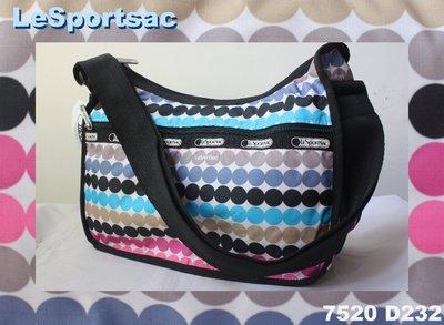 【LeSportsac】100% 全新正品7520 D232 / GO GO GO 熱門款 實用 側肩包 斜背包