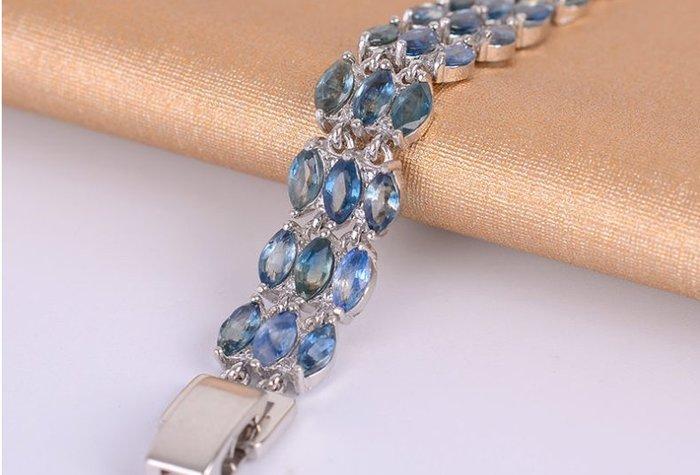 天然藍寶石(頭等艙精品)手鍊 精現貨庫存 不用等 寶石屬山東礦區 天然無燒 珠寶百貨店面要至少$20000以上