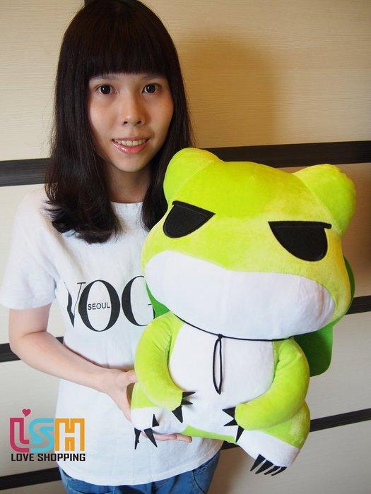 【愛購樂】 旅行青蛙 42CM 玩偶 娃娃 抱枕