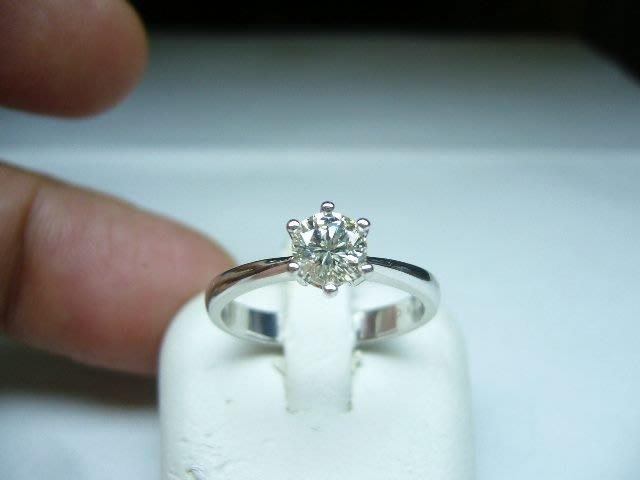 [吉宏精品交流中心]52分 南非天然鑽石 六爪 白K金 戒指