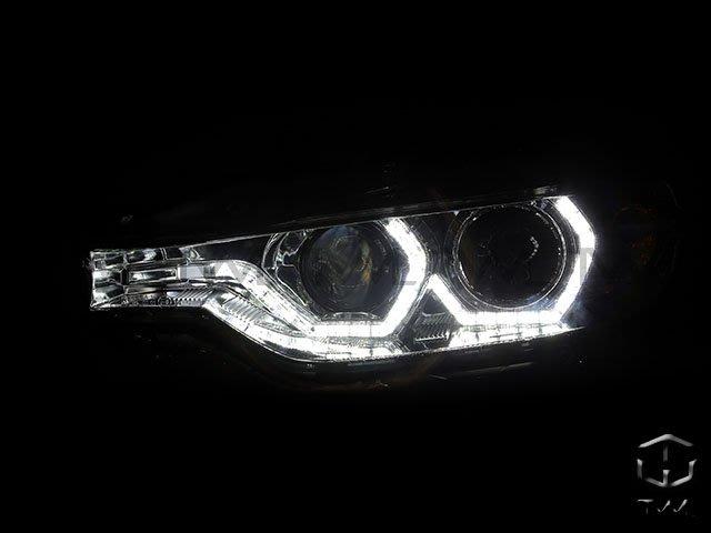 《※台灣之光※》全新 BMW F30  14 15 16 12 13年 美規鹵素328升級晶鑽LED單光版光圈投射大燈組