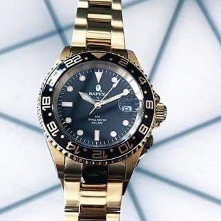 A BATHING APE BAPE TYPE 2 BAPEX GOLD GMT ROLEX 116618LN 黑面 機械錶 95% 新