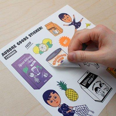 ❅PAVEE❅ Ξ 韓國oohlala~ waterproof sticker 嗚啦啦 行李箱 小物 多功能防水裝飾貼紙