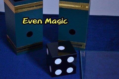 【意凡魔術小舖】舞台魔術骰子穿玻璃 骰子穿越術 骰子穿透術 魔術道具批發