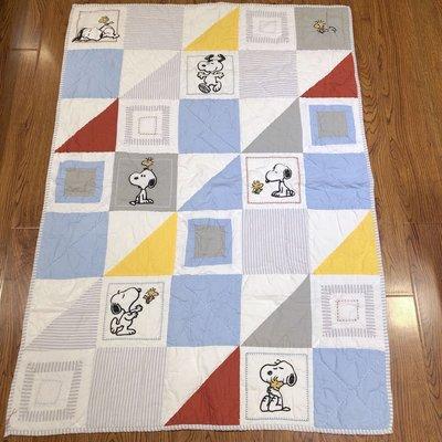 歐美 史努比 純棉 兒童刺繡 兩用被 涼被 棉被套 絎縫被 被套 雙人 單人 寢具  snoopy 生日禮物