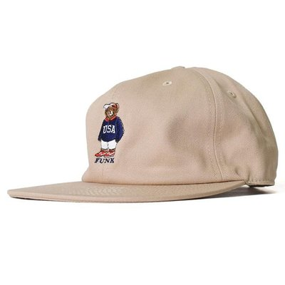 { POISON } INTERBREED USA BEAR BALL CAP 日本頂級刺繡小熊棒球帽老帽 卡其