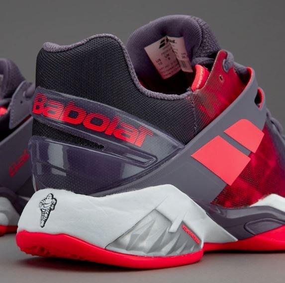 【A' SPORT】BABOLAT Propulse Fury Clay 31S17554 女網球鞋 紫粉 紅土場/網球