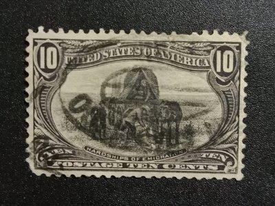 【 黑白宇宙 】1898年美國 移民的艱辛郵票__2318
