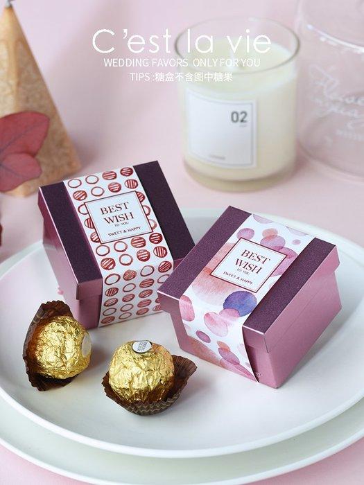 衣萊時尚-熱賣款  喜糖盒馬口鐵禮盒伴手婚禮包裝盒婚慶用品T29