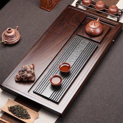 【睿智精品】黑檀木茶盤 功夫茶盤 烏金石茶盤 茗茶 泡茶盤(GA-4404)