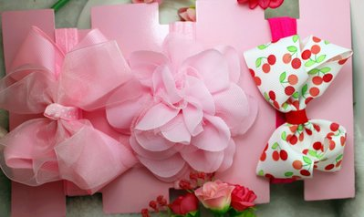 ☆草莓花園☆女童髮帶 女寶寶頭飾 嬰兒頭飾 新生婴兒禮品滿月周歲拍照髮帶禮盒 花色組合11附精美外盒