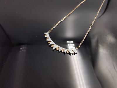 %玉承珠寶% 輕珠寶系列14k金歐美款微笑項鍊R5(現貨1)