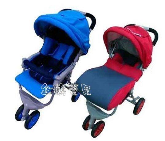 @企鵝寶貝二館@ 歐風全罩式三明治透氣布三輪秒收車/嬰兒手推車/大三輪推車