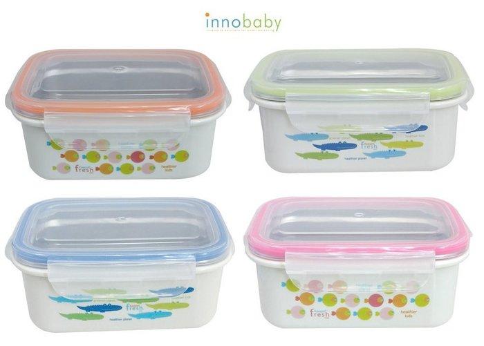 【魔法世界】美國 Innobaby 不鏽鋼雙層保鮮餐盒 450ml 4色