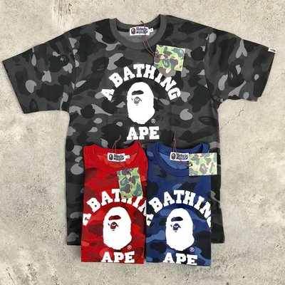 ☆LimeLight☆ BAPE COLOR CAMO COLLEGE TEE M 滿版 迷彩 紫/藍/黑/紅