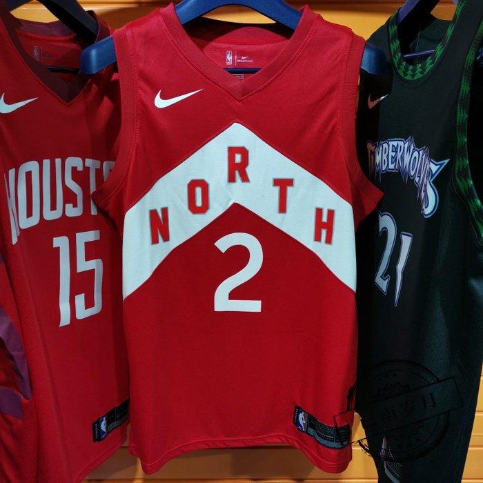 NBA球衣暴龍隊#2號球衣  LEONARD  倫納德 城市版 紅色款式