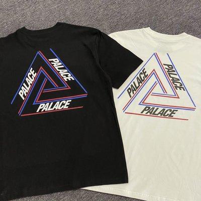 MOMO精品#英國Palace潮牌21SS新款Basically Triangle三角型logo紅白藍色男裝短袖T恤tee