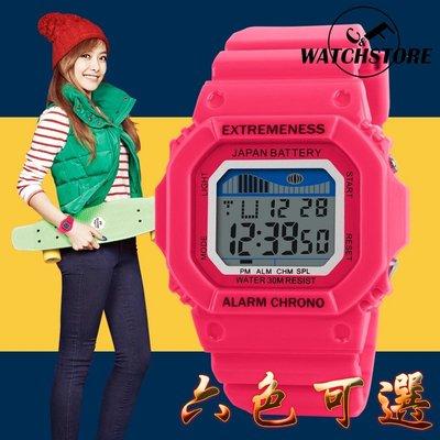 C&F 【SKMEI】時尚潮流方型運動防水電子腕表 男表女錶中性錶學生表 媲美卡西歐CASIO G-SHOCK