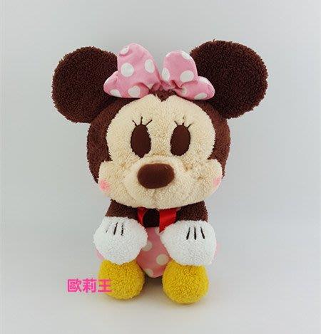 正版 迪士尼 SEGA 米妮 絨毛娃娃 米老鼠 玩偶 生日禮物 畢業禮物 歐莉王