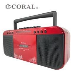 【含稅】CORAL TR6600 復古造型 多功能整合 手提卡帶收錄音機 收音機 USB/MP3/TF卡 AM/FM
