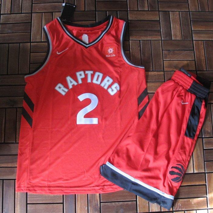 NBA球衣暴龍隊#2號球衣  LEONARD  倫納德 紅色套裝
