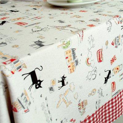 戀物星球 棉麻布料卡通風格亞麻布料桌布抱枕沙發布料麻布棉布新款家居布藝