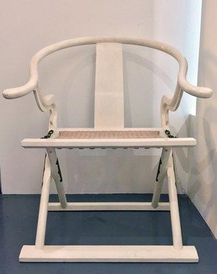 【一(藝)窩】近代 清品交椅~榆木~老料新作 宋式家具