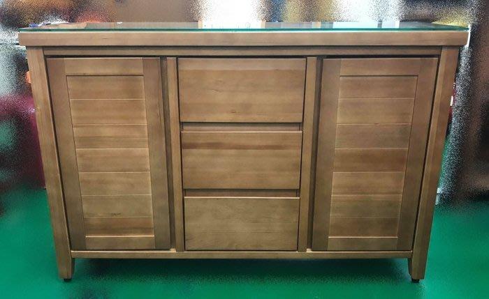 樂居二手家具 台中二手傢俱買賣 VC726HH *全新檜木餐櫃 碗盤收納櫃 原木隔間櫃* 高低電視櫃 展示架 屏風櫃