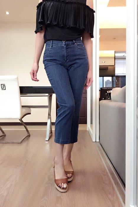 *Beauty*Elegance藍色素面口袋貼皮LOGO牛仔褲F40  號 3990 元