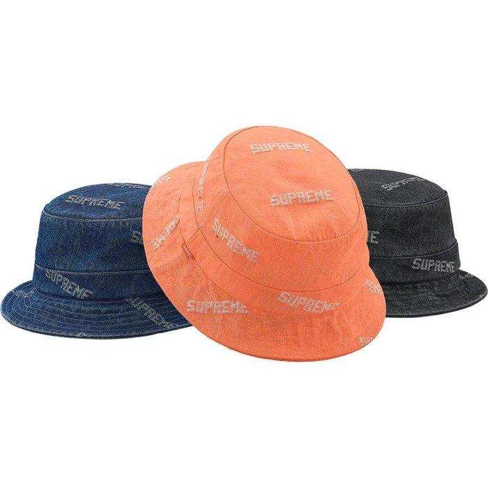 【美國鞋校】預購 SUPREME SS19 Logo Denim Crusher 丹寧漁夫帽
