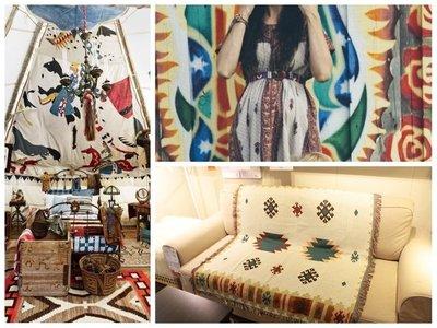 115cm-150cm戶外露營用品/野餐毯/保暖蓋毯/沙發毯/印第安幾何KILIM納瓦霍沙發毯掛毯2017