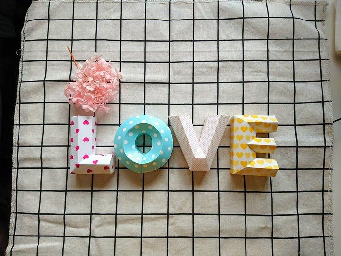 婚紗道具 婚禮佈置 / 婚紗道具 / LOVE / 立體字 / 小款 /