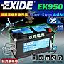 ☼ 台中苙翔電池 ►EXIDE EK950 AGM PORSCH...