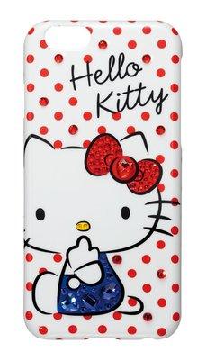 尼德斯Nydus~* 日本正版 三麗鷗 Hello Kitty 水鑽 水玉點點 硬殼 手機殼 4.7吋 iPhone6