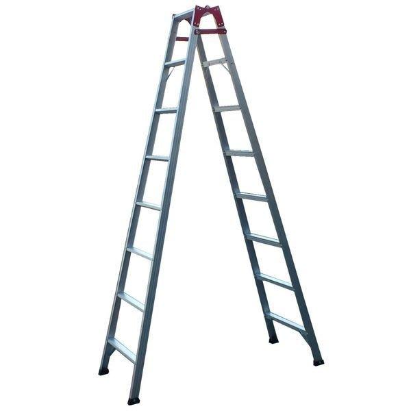 兩用梯! 8階 直馬梯 A字梯231公分 一字梯 鋁梯 梯子 馬椅梯 關節梯 安全荷重80kg 台灣原廠 8尺