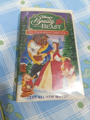 迪士尼美女與野獸Beauty and the Beast: An Enchanted Christmas VHS 錄影帶