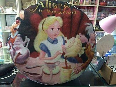 GIFT41 4165本通 三重店 迪士尼 Disney 愛麗絲 夢遊仙境 抱枕 圓枕 日本 景品