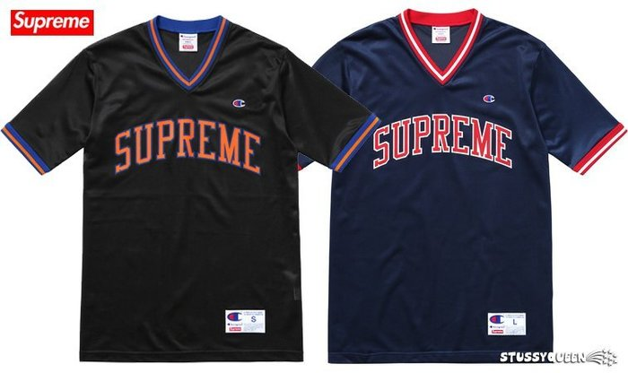 【超搶手】全新正品2015 聯名Supreme x Champion Shooting Jersey 球衣 黑色M 藍M
