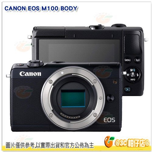@3C 柑仔店@ Canon EOS M100 Body 單機身 平輸繁中一年保固 黑色
