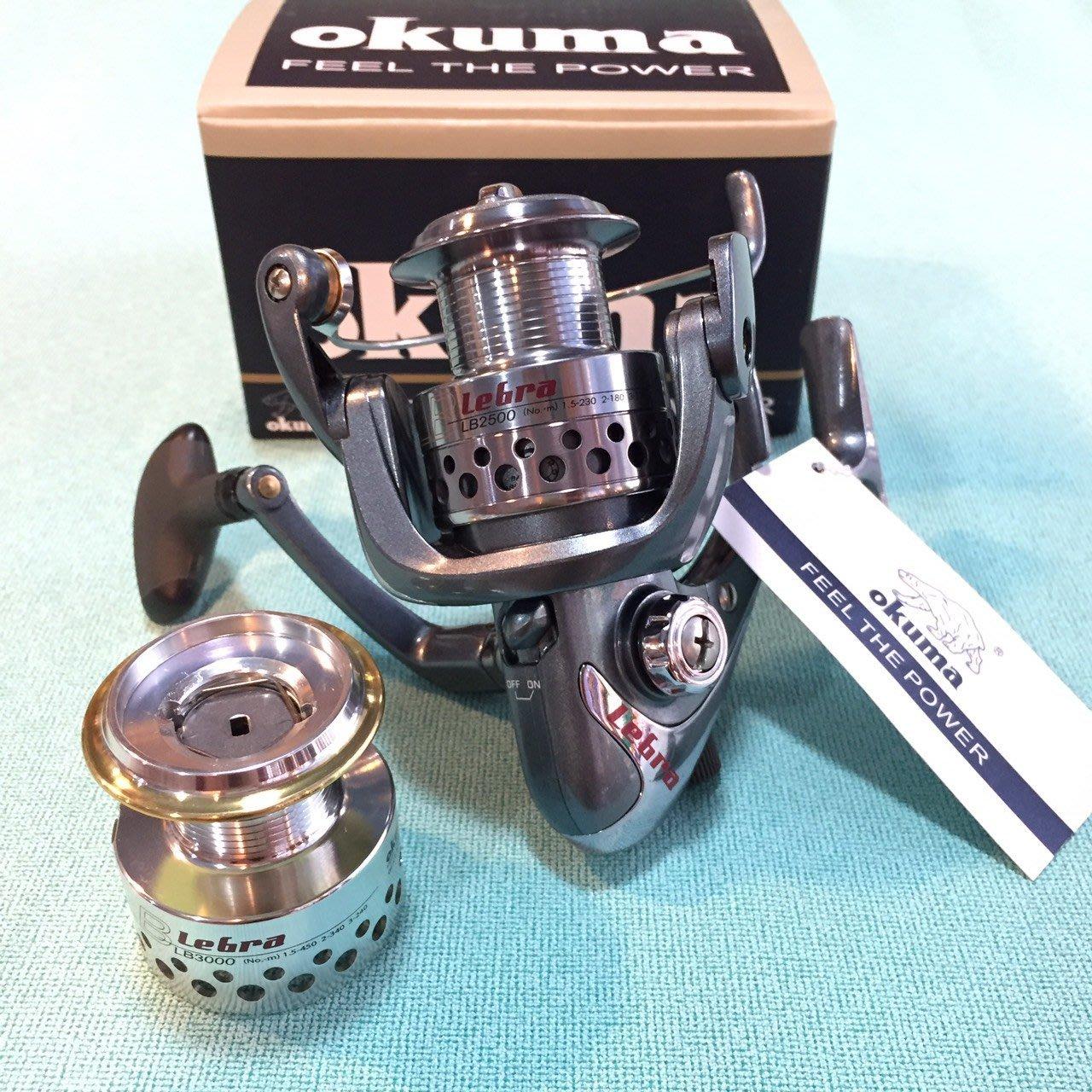 ❖天磯釣具❖ OKUMA寶熊 LEBRA力霸 LB-2500 雙線杯 手煞車捲線器 磯釣必備 免運特惠中!