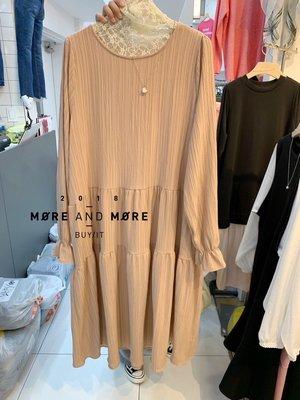 ☻☺現貨☺☻🌹FEBRUARY春神來了🌹韓國連線-正韓仙女軟棉麻皺褶面料娃娃款洋裝