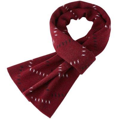 圍巾 羊毛 披肩-百搭加厚提花針織男配件3色73wh33[獨家進口][米蘭精品]