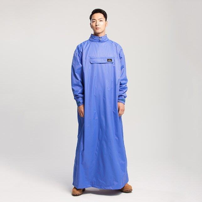 【山野賣客】MORR PostPosi反穿雨衣-天王星藍 ND1101-40 磁釦快速穿脫 斗篷 雨披