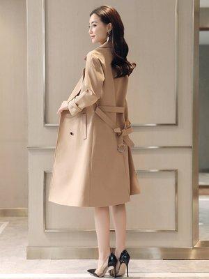 風衣女中長款2020年秋季新款今年流行高新端女裝減齡外套垂感新過膝ak